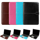 Laptop 13 Inch PC Book Back Sleeve Case Cover For MacBook Pro Air Faux Leather