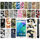 For Motorola Moto X Style XT1575 Camo Design HARD Back Case Phone Cover + Pen