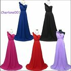 Cherlone Chiffon One Shoulder Long Ballgown Wedding Evening Bridesmaid Dress 16
