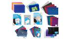 STUD WALLETS - Organiser Pocket Subject Storage Plastic Document Envelope{Tiger}