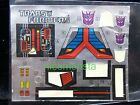 Transformers G1 Action Figure Parts Unused Labels Stickers 1984-1990 [AUTHENTIC]
