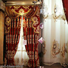 luxury curtain chenille blackout lining curtains sheer embroidery window curtain