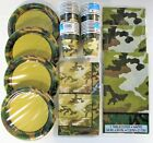 Military Camo Party Tableware Army Camouflage Plates etc - choose your quantity