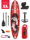 "Model III Premium Rojo XL 10'10 x 6"" Inflatable Paddleboard + Deluxe SUP Package"