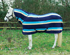 NEW Rhinegold Elite Fixed Neck Blue Show Fleece Horse Rug Travelling or Stable