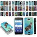 For Kyocera Hydro Wave C6740/ C6745 Hybrid Bumper Shockproof Case Cover + Pen