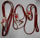 1 New Disney Minnie Mouse Red Leather Dog Puppy Girl Leash