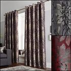 Elanie Ring Top/Eyelet Lined Metallic Jacquard Curtains Range - Free Postage