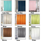 NEW  Pure Color Bathroom Curtain Polyester Waterproof Shower Curtain Set 6879HC