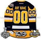 PITTSBURGH PENGUINS ANY NAME  NUMBER 2017 STANLEY CUP JERSEY REEBOK 100TH 50TH