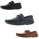 Moda Essentials Men's Driving Slip On Loafers Shoes Monogram & Croc