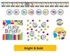 AGE 80 - BRIGHT & BOLD Party Tableware Disposable Birthday Supplies {CREATIVE}