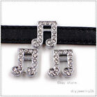 5pcs 8mm mixed Slide Charm Fit for Name DIY Bracelet/Phone strip Free shipping