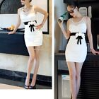 Women Lace Bodycon Sexy Mini Slim Sleeveless Backless Dress Party Dress B20E01