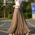 7 Colors New Beach Long Skirts Bohemian Women Shinning Chiffon Dress