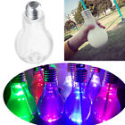 LED Glowing Light Bulb Water Bottle Brief Cute Milk Juice Bulbs Cup Leak-proof