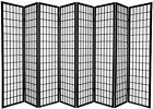 3,4,5,6,8,10 Panel Oriental Style Room Screen Divider Privacy Folding Furniture