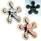 2017 Luminous Skull Fidget Hand Spinner 5 Copper Gears Desk Spin NEW Toys EDC
