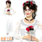 Day of the Dead Bride Ladies Fancy Dress Halloween Undead Womens Adults Costume
