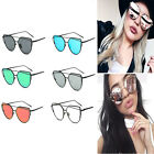 Womens Sport Mirrored Lenses Designer Retro Vintage Cat Eye Oversized Sunglasses