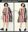 womens georgette skirts dress loose batwing sleeve chiffon loose flowers printed