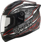 Gmax GM69 Mayhem Full Face Helmet Black/Silver/Red