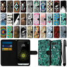 For LG G5 H850 VS987 Ultra Slim Canvas Wallet Pouch Case Cover Credit Card + Pen