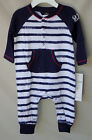 GUESS 100% Cotton Long Sleeve Navy Stripe Coverall BOY SIZE 6/9 months NWT