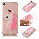 Soft Quicksand Case For CelePhones Crystal Liquid TPU Dynamic Cover Pink Unicorn