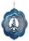 SWEN Products LIGHTHOUSE NAUTICAL Swirly Metal Wind Spinner