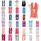 Fashion Casual Simple Lightweight Soft Plain Solid Color Scarf for Women