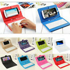 """Universal 4.2""""- 6.8"""" Wired Keyboard Case Flip Leather Stand Cover For Andriod US"""