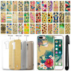 "For Apple iPhone 7 Plus 5.5"" Slim Sparkling Gold TPU Silicone Case Cover + Pen"
