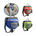 Outdoor Pet Dog Travel Hiking Camping Saddle Bag Backpack Harness Pack 7419HC