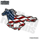 American Horse Decal USA US Flag Pony Mustang Vinyl Sticker (LH) M44