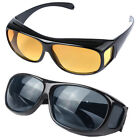 1X Night Vision Night Optic HD Wrap Around Driving Anti Glare Glasses Sun Optics