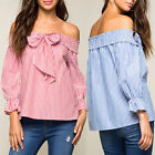 Fashion Women Summer Loose Top Long Sleeve Blouse Ladies Casual Tops T-Shirts*