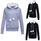 Unisex Lovely Hoodies Pouch Pet Dog Cat Hooded Pullover With Ears Sweatshirt 97k