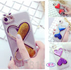 Case Cover For Smart Phone Dynamic Liquid Quicksand bling Diamond PC Clear Back