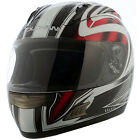 Duchinni D721 Red White Full Face Motorcycle Crash Helmet 4 Star Sharp Rating