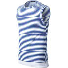 Solid Color T-shirt Sleeveless Slim Tops Mens Casual Shirt Round Collar Design