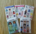 Patterns Simplicity 7688 3547 0581  McCall's M6006  M5019 American Doll Clothes