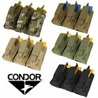 Condor MA55 Tactical MOLLE PALS Triple Kangaroo Rifle/Pistol Magazine Mag Pouch