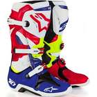 Alpinestars Tech 10 MX Motocross Quad Of Nations Boots - Blue/Red