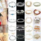 Women Chic Charm Light Crystal Gold/Silver Plated Bangle Bracelet Jewelry Lot