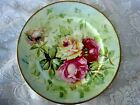 Antique C.A. LIMOGES FRANCE Hand Painted Roses Ceramic Plate - Made in France