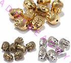 20Pcs Tibet Silver Retro Buddha Head Charm Spacer Beads DIY Jewelry Finding 10MM