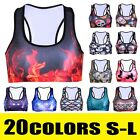 Women Sports Yoga Workout Gym Fitness Vest Tank Stretch Blouse Crop Top T-shirt