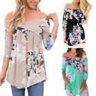 Womens Casual Off shoulder Cotton Slim T-Shirt Top Ladies Long Sleeve Blouse TY