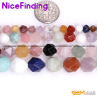 """Natural Faceted Semi Precious Mixed Gemstone Beads For Jewelry Making Strand 15"""""""